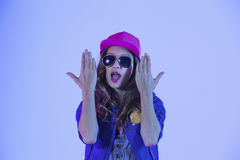 Pop style girl Stock Photography