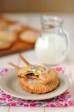 Pop-taartjes met Melk Stock Foto's