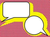 Pop talk. Dialog in pop-art style Stock Photo