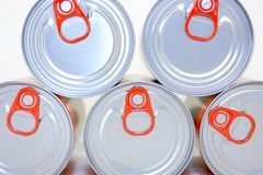 Pop Top Cans royalty free stock image