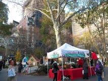 Pop-up al naturale delle case di pan di zenzero in Madison Square Park Immagine Stock