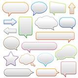 Pop-up bel met schaduw op witte achtergrond Stock Foto's