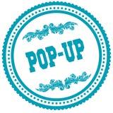 POP UP blue round stamp. Illustration image concept Royalty Free Stock Images