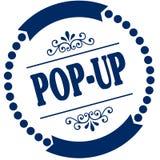 POP UP blue seal. Illustration graphic concept image Stock Image