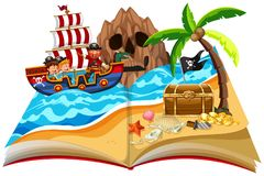 A pop up book pirate theme royalty free illustration