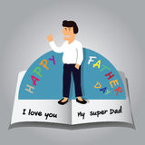 Pop up card of Happy Fathers Day. Stock Photo
