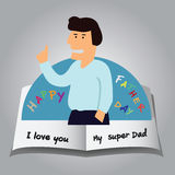 Pop up card of Happy Fathers Day Stock Photo