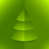 Pop up Christmas tree green Royalty Free Stock Photos