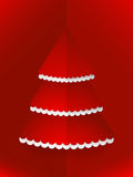 Pop up Christmas tree red Royalty Free Stock Photography