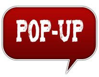 POP UP on red speech bubble balloon. Illustration Royalty Free Stock Photography