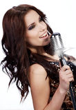 Pop vrouwelijke zanger Stock Afbeeldingen