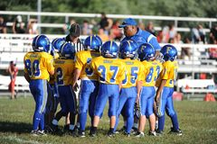 Pop Warner Football stock afbeeldingen