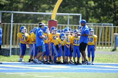 Pop Warner Football royaltyfria foton