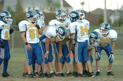 Pop Warner Football royaltyfri foto