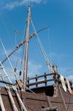 Popa de la reproducción de la nave de una Columbus Foto de archivo