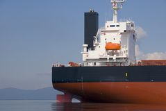 Popa del carguero Imagen de archivo libre de regalías