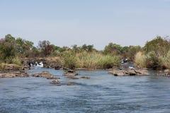 Popa Falls Namibia. Popa Falls on the Okavango River, Namibia, 2015 stock photography