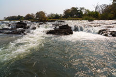 Popa Falls in the Okavango River Stock Images