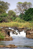 Popa Falls on the Okavango River Stock Images