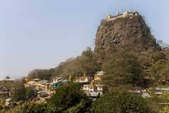 Popa Taungkalat monastery atop an outcrop of Mount Popa volcano Royalty Free Stock Image