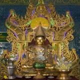 登上Popa nat寺庙-缅甸 图库摄影