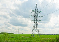 Poparcia dla linii energetycznych Zdjęcie Royalty Free
