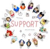 Poparcie darowizn dobroczynności podstawy pojęcie Zdjęcia Royalty Free
