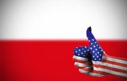 Poparcie od Stany Zjednoczone Zdjęcie Stock