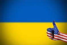 Poparcie od Stany Zjednoczone dla Ukraina Zdjęcia Royalty Free