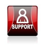poparcie placu czerwonego sieci glansowana ikona Obrazy Stock