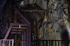Poparcie struktura w Historycznej Srebnej kopalni obrazy stock