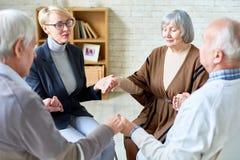 Poparcie terapia dla Starszych ludzi Obrazy Royalty Free