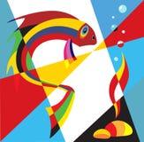 popart рыб Бесплатная Иллюстрация