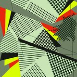PopArt Abstract Geometric Collage Green modell Royaltyfria Foton