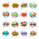 Popart comic speech bubble boom effects vector. Stock Photo