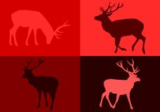 Popart deers. Popart deers ideal for Christmas card Royalty Free Stock Photo