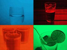 popart halfone drink collage royalty free stock images
