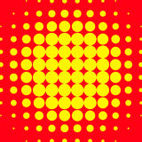 Popart, halftone pattern, background. Yellow and red, duotone ba. Ckdrop  - Royalty free vector illustration Stock Photography