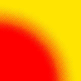 Popart, halftone pattern, background. Yellow and red, duotone ba. Ckdrop  - Royalty free vector illustration Stock Images