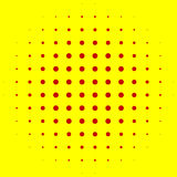 Popart, halftone pattern, background. Yellow and red, duotone ba. Ckdrop  - Royalty free vector illustration Stock Photos