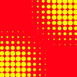 Popart, halftone pattern, background. Yellow and red, duotone ba. Ckdrop  - Royalty free vector illustration Stock Image