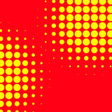 Popart, halftone pattern, background. Yellow and red, duotone ba. Ckdrop  - Royalty free vector illustration Royalty Free Stock Image