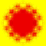 Popart, halftone pattern, background. Yellow and red, duotone ba. Ckdrop  - Royalty free vector illustration Royalty Free Stock Photography