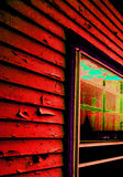 Popart - Haus-Abstellgleis Stockfotos
