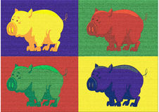 Popart pig Stock Image