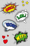 Popart speech bubbles Stock Image