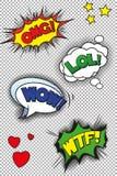 Popart-Spracheblasen Stockbild