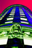 Popart - Turks Head. Corporate building from the turn of the century in downtown Providence, RI. Colors changed to achieve popart effect. Very high visual impact Royalty Free Stock Photos