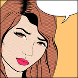 Popart Woman Royalty Free Stock Photo