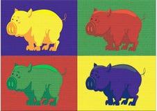 Popartvarken Stock Afbeelding